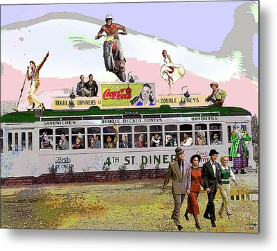 Dinnrer With Friends Metal Print by Charles Shoup