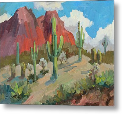 Metal Print featuring the painting Dinosaur Mountain by Diane McClary