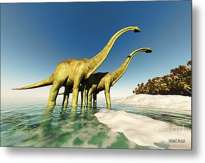 Dinosaur World Metal Print by Corey Ford