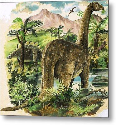 Dinosaurs Metal Print by English School