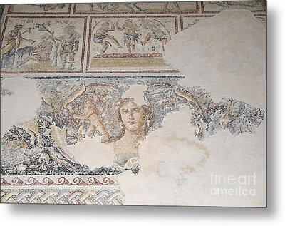 Dionysus Mosaic Mona Lisa Of The Galilee Metal Print by Ilan Rosen