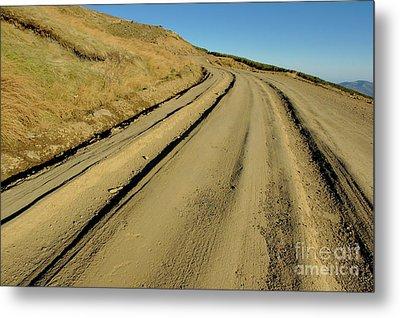 Dirt Road Winding Metal Print by Sami Sarkis