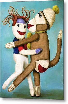 Dirty Socks Dancing The Tango Metal Print by Leah Saulnier The Painting Maniac