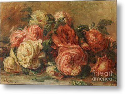 Discarded Roses  Metal Print by Pierre Auguste Renoir