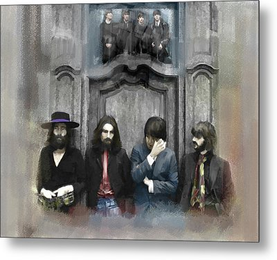 Discontent The Beatles Metal Print by Iconic Images Art Gallery David Pucciarelli