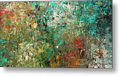 Metal Print featuring the painting Discovery - Abstract Art by Carmen Guedez