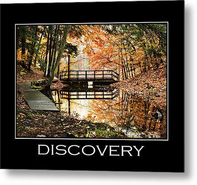 Discovery Inspirational Motivational Poster Art Metal Print by Christina Rollo