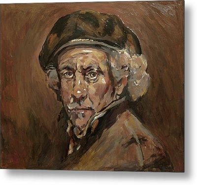 Disguised As Rembrandt Van Rijn Metal Print