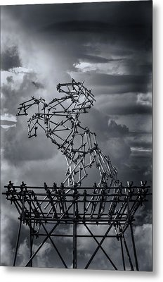 Dismaland Steel Horse Metal Print by Jason Green