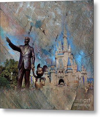 Disney World Metal Print by Gull G