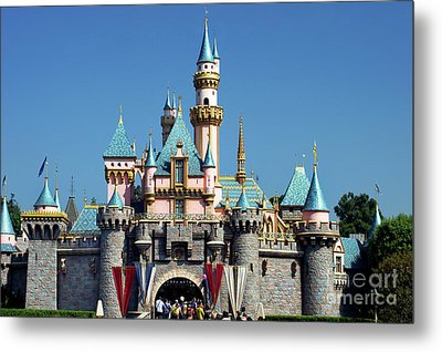 Metal Print featuring the photograph Disneyland Castle by Mariola Bitner