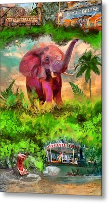 Disney's Jungle Cruise Metal Print