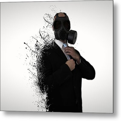 Dissolution Of Man Metal Print by Nicklas Gustafsson