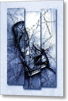 Dissonance In Blue Metal Print