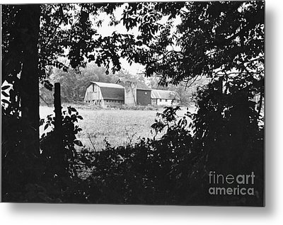 Distant Farm Metal Print