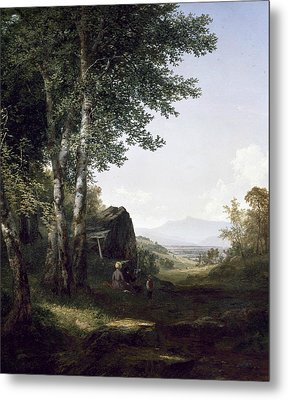 Distant View Of The Mansfield Mountain Vermont Metal Print by John Frederick Kensett