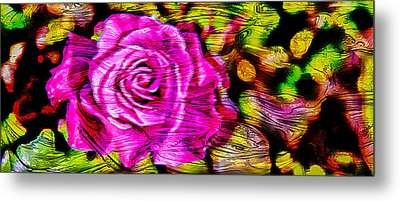 Distorted Romance Metal Print by Az Jackson