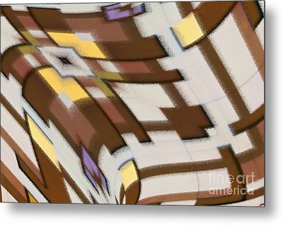 Metal Print featuring the digital art Distortion by Wendy Wilton