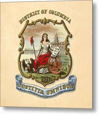 District Of Columbia Historical Coat Of Arms Circa 1876 Metal Print