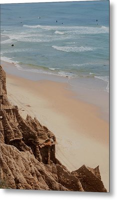Ditch Plains Surfers Metal Print