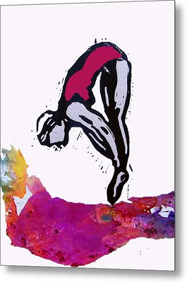 Dive - Crimson Tide Metal Print by Adam Kissel