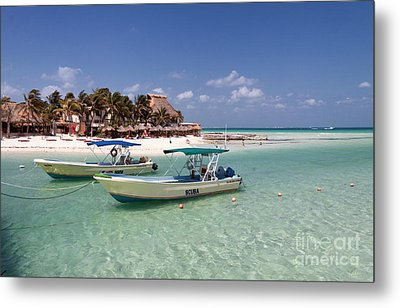 Dive Boats On Isla Mujeres Metal Print