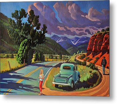 Metal Print featuring the painting Divergent Paths by Art West