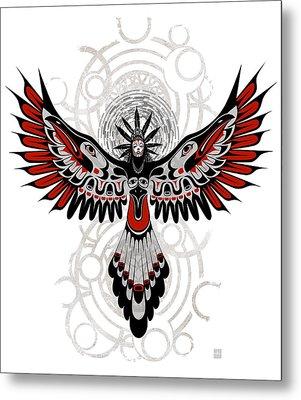 Divine Crow Woman Metal Print by Sassan Filsoof