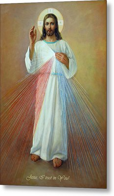 Divine Mercy - Jesus I Trust In You Metal Print