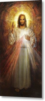 Divine Mercy, Sacred Heart Of Jesus 1 Metal Print