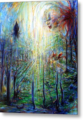 Metal Print featuring the painting Divine Mother Earth by Heather Calderon