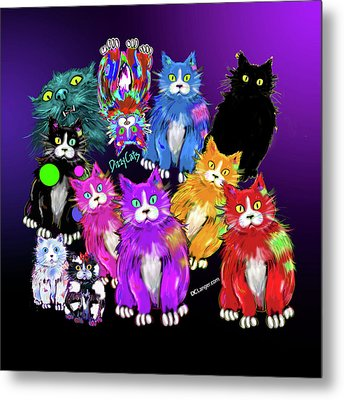 Dizzycats Metal Print