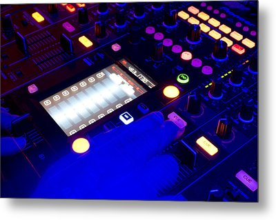 Dj On Deck Metal Print by Michael Wilcox