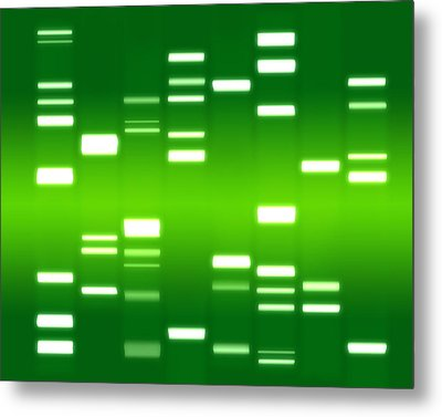 Dna Green Metal Print by Michael Tompsett