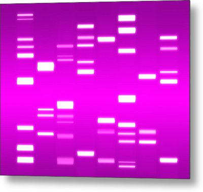 Dna Magenta Metal Print by Michael Tompsett