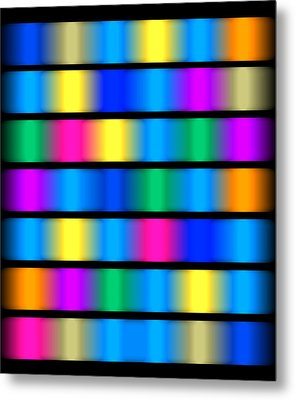 Dna Modern Paintings Abstract Bubble Wall Art Metal Print by Robert R Splashy Art