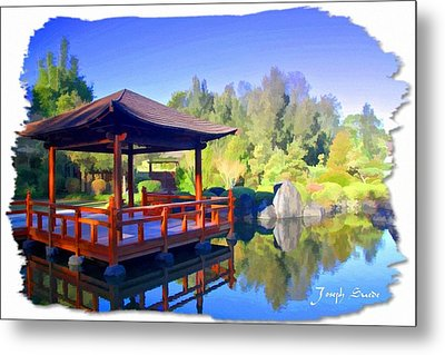 Metal Print featuring the photograph Do-00003 Shinden Style Pavilion by Digital Oil