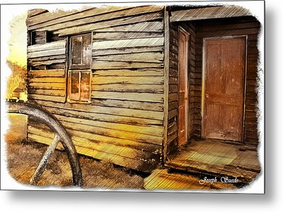Metal Print featuring the photograph Do-00040 Old House Front by Digital Oil
