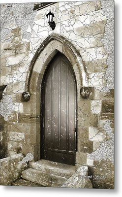 Metal Print featuring the photograph Do-00055 Chapels Door In Morpeth Village by Digital Oil
