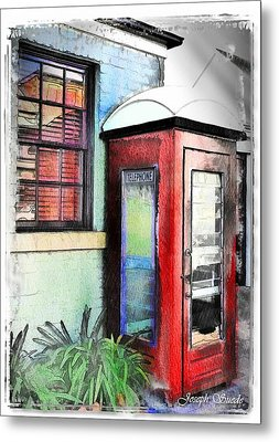 Metal Print featuring the photograph Do-00091 Telephone Booth In Morpeth by Digital Oil