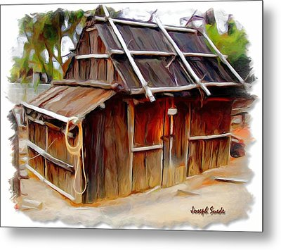 Metal Print featuring the photograph Do-00129 Old Cottage by Digital Oil