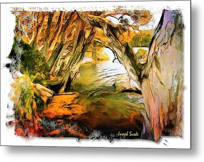Metal Print featuring the photograph Do-00268 Trees On Water In Avoca Estuary by Digital Oil