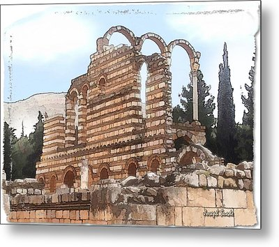 Metal Print featuring the photograph Do-00302 Ruins In Anjar by Digital Oil