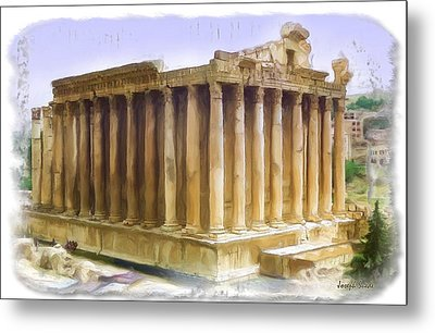 Metal Print featuring the photograph Do-00312 Temple Of Bacchus In Baalbeck by Digital Oil