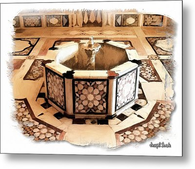 Metal Print featuring the photograph Do-00323 Old Bath Fountain by Digital Oil
