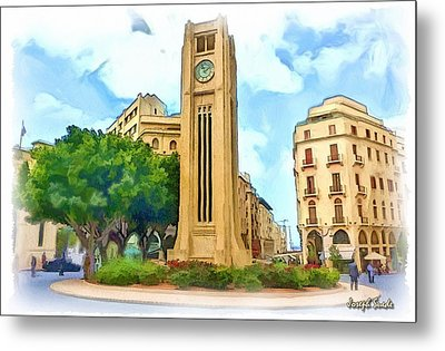Do-00358 The Clock Tower Metal Print by Digital Oil