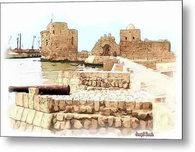 Metal Print featuring the photograph Do-00423 Citadel Of Sidon by Digital Oil