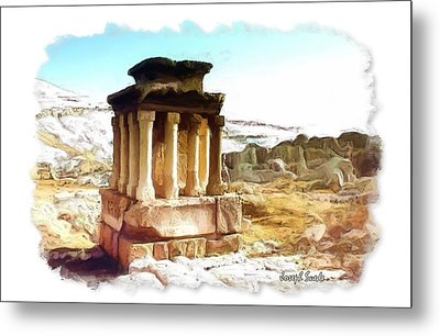 Metal Print featuring the photograph Do-00432 The Temple Of Faqra by Digital Oil