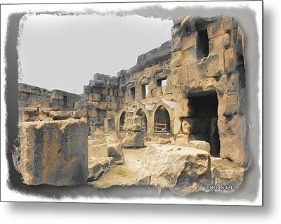 Metal Print featuring the photograph Do-00452 Inside The Ruins by Digital Oil