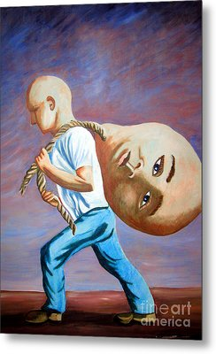 do I have to throw my ego away to find my Self Metal Print by Tanni Koens